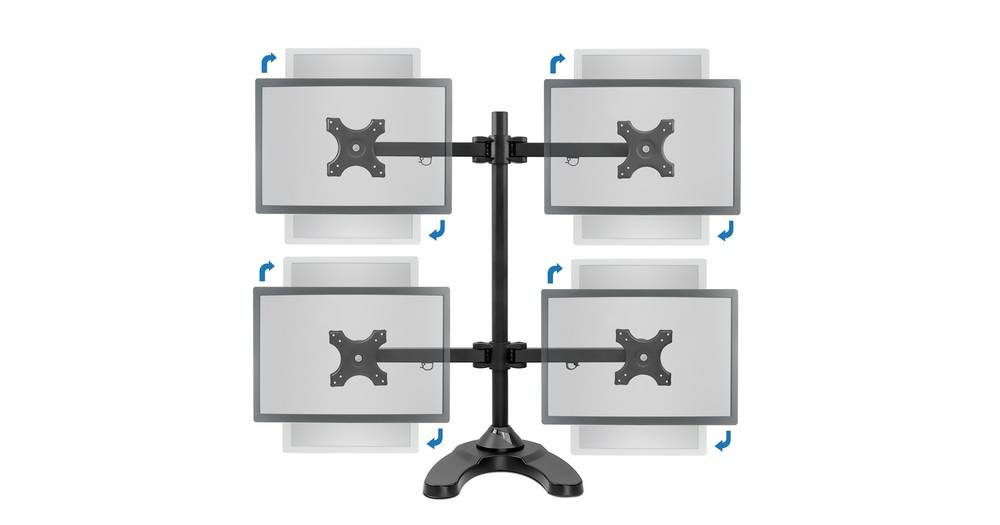 How to choose quad monitor stand // Quad monitor stand buyer's guide