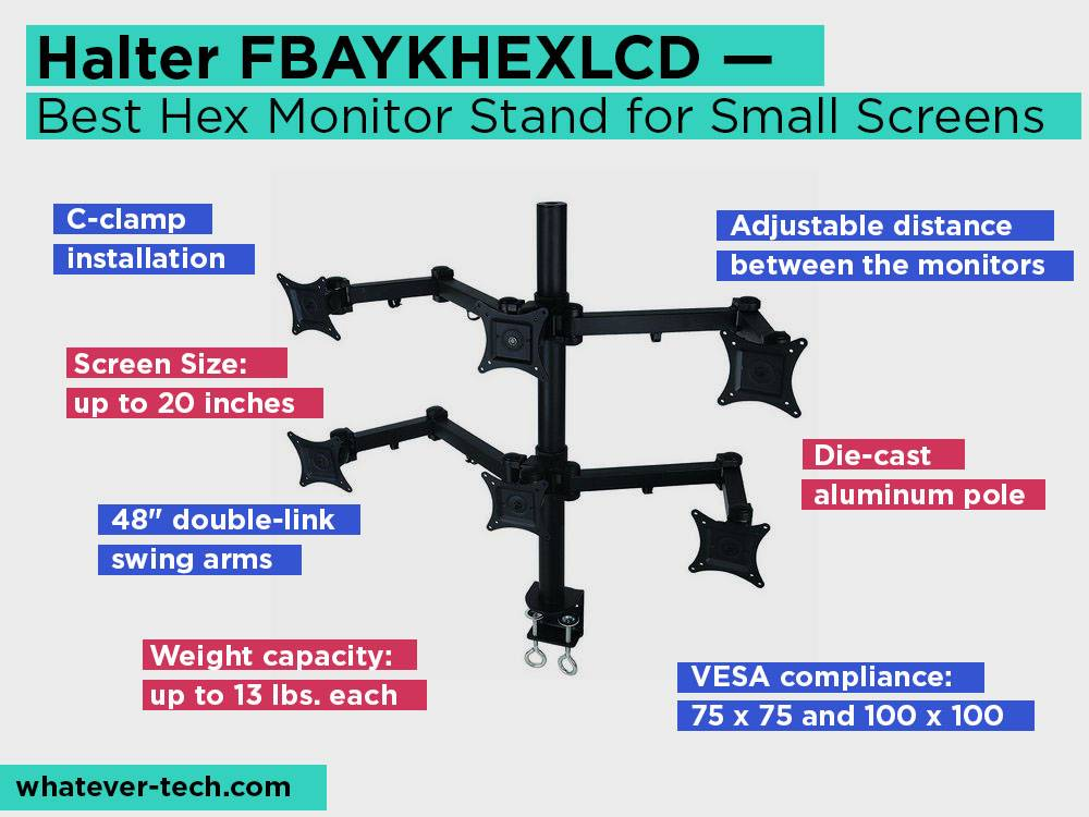 Halter FBAYKHEXLCD Review, Pros and Cons. Check our Best Hex Monitor Stand for Small Screens 2018
