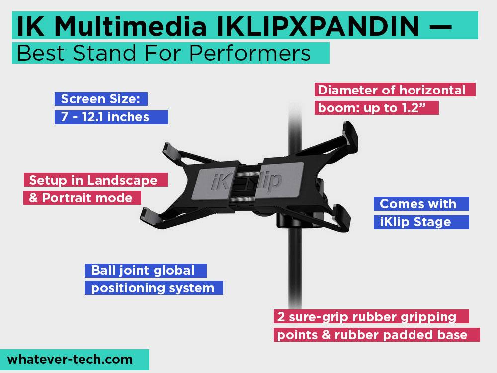 IK Multimedia IKLIPXPANDIN Review, Pros and Cons. Check our Best Stand For Performers 2018