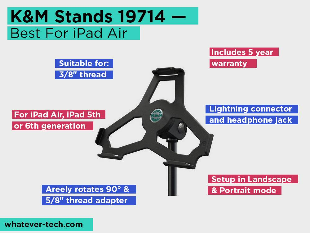 K&M Stands 19714 Review, Pros and Cons. Check our Best For iPad Air 2018