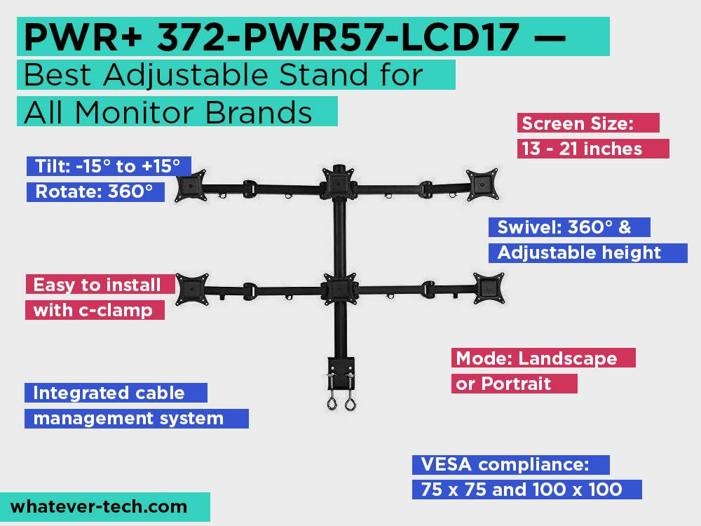 PWR+ 372-PWR57-LCD17 Review, Pros and Cons. Check our Best Adjustable Stand for All Monitor Brands 2018