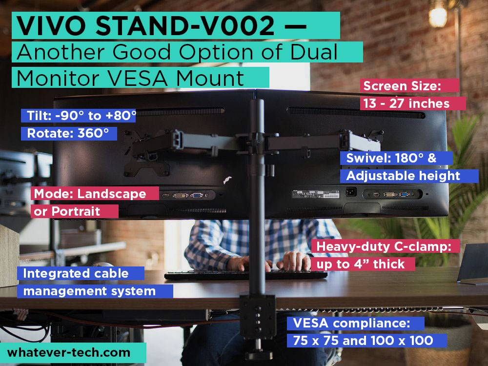 VIVO STAND-V002 Review, Pros and Cons. Check our Another Good Option of Dual Monitor VESA Mount 2018
