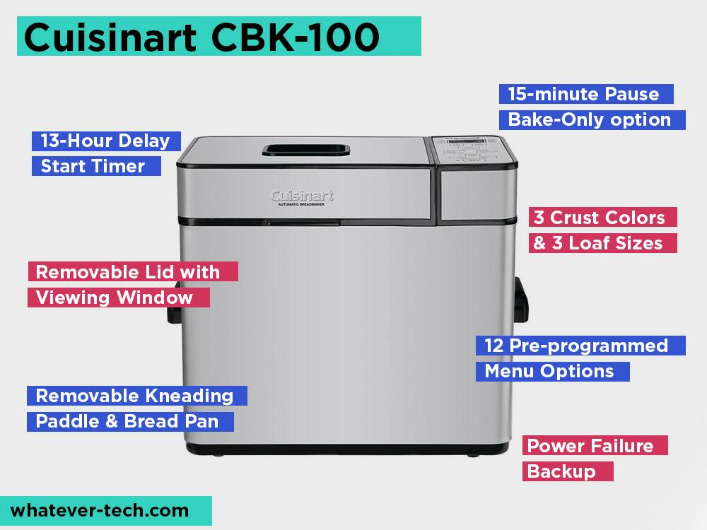 Cuisinart CBK-100 Review, Pros and Cons. Check our Most Budget-friendly Cuisinart Bread Maker 2019