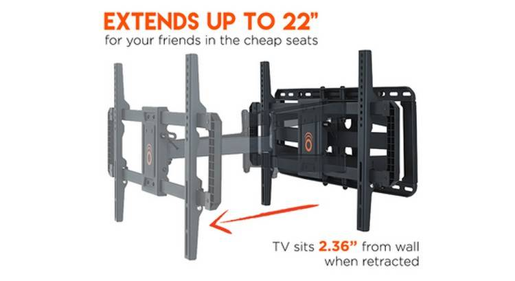 The greatest benefit of ECHOGEAR EGLF2 is the extension up to 22-inches