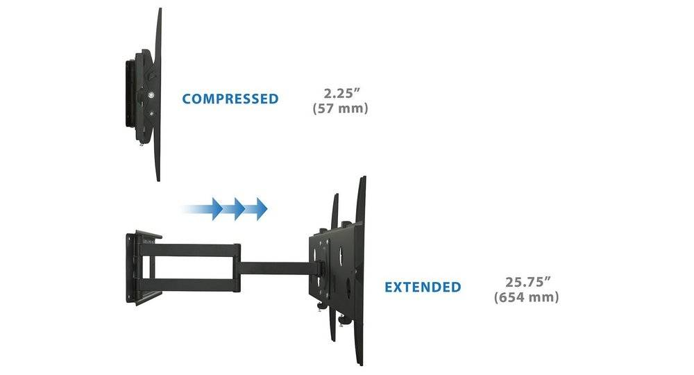 EverstoneMount-It!MI-319L can extend all the way to 26 inches