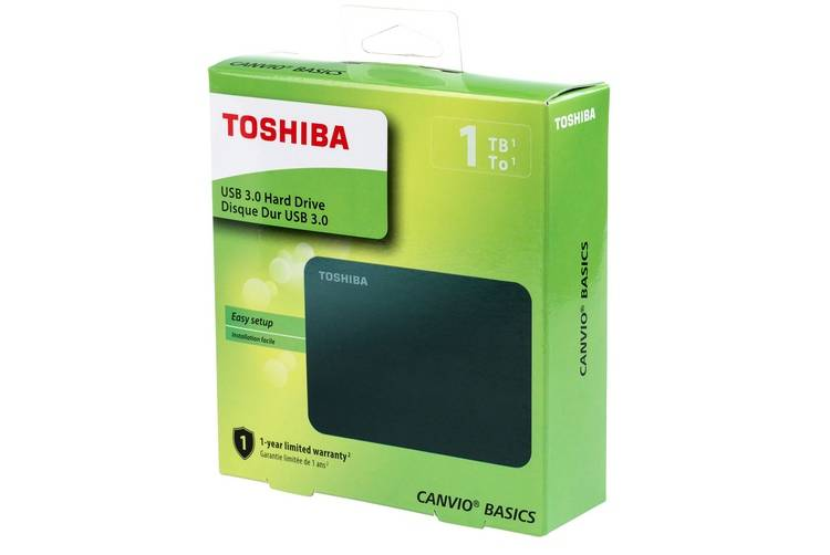 Toshiba HDTB410XK3AA Canvio Basics has USB 3.0