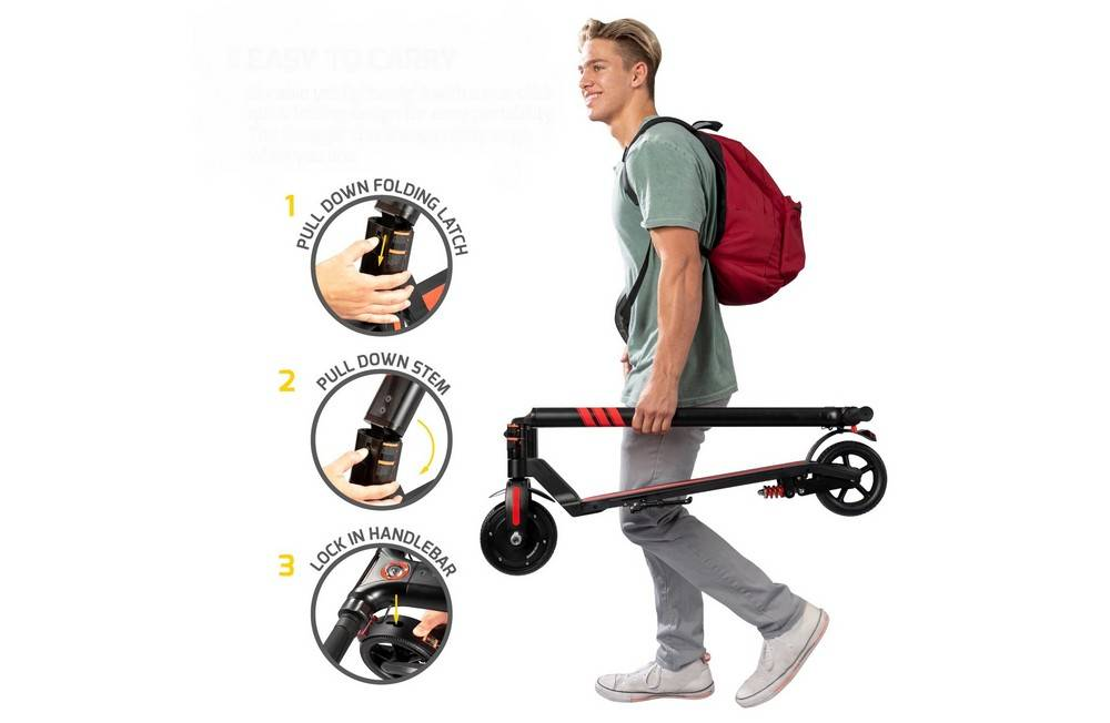 Swagtron SwaggerPro SG-3 fold in just two simply steps and stow away