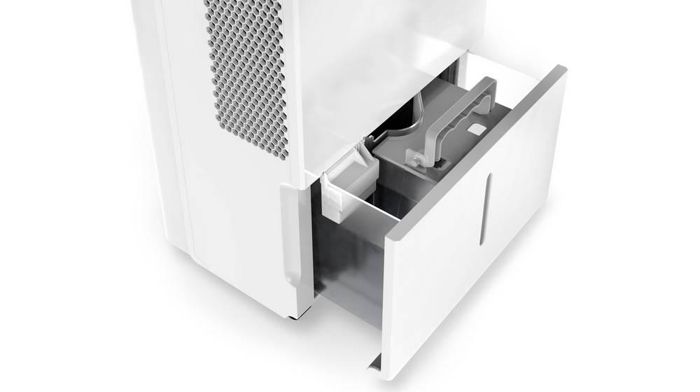 hOmeLabs Dehumidifier has a water collection tank