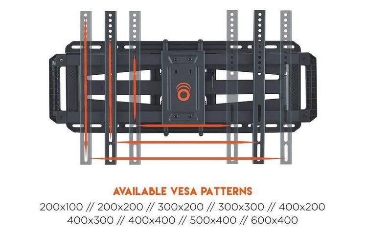 ECHOGEAR EGLF2 is designed to accommodate nearly any VESA pattern