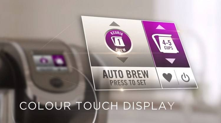 Large colour touch display