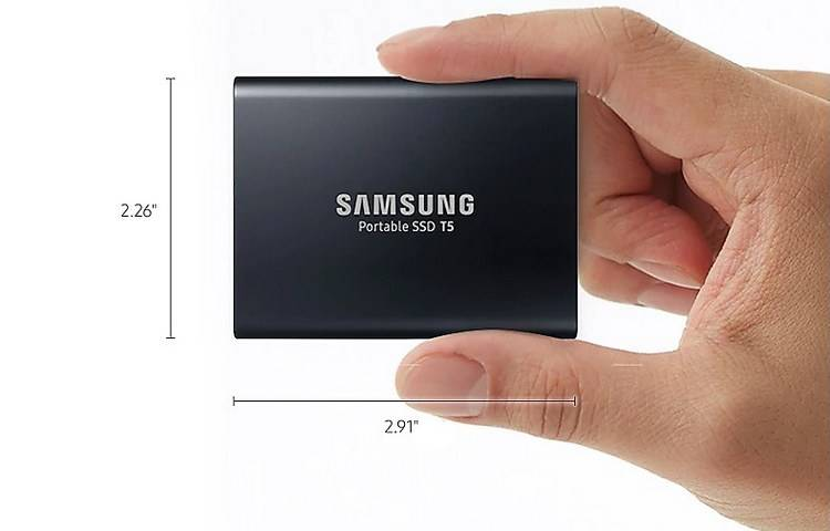 Samsung T5 MU-PA1T0B/AM is one of the most portable hard drives