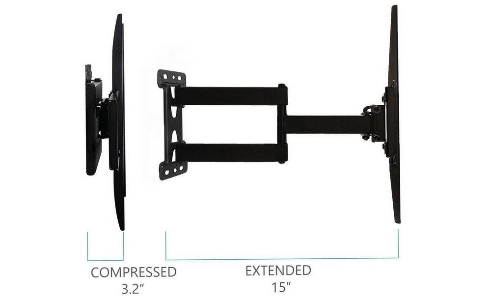 WALLI WL-FTM-1 can extend to a full length of 15-inches from the wall