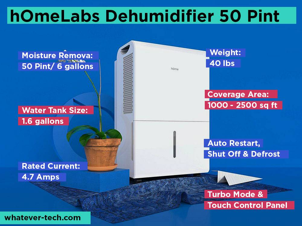 hOmeLabs Dehumidifier 50 Pint Review, Pros and Cons.