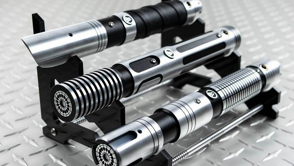 Highly detailed and replicate-quality hilts of lightsaber