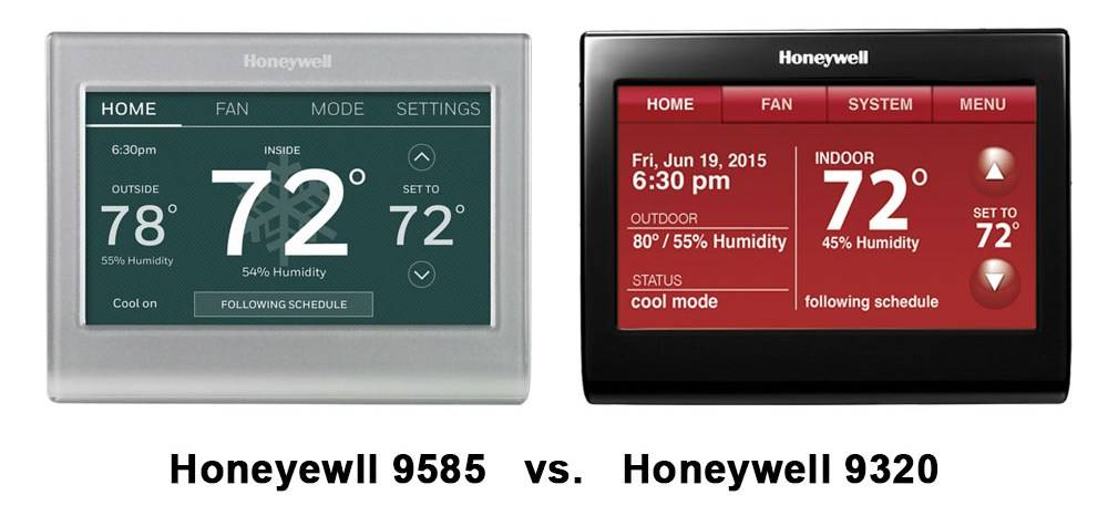 Honeyewll 9585 and Honeywell 9320 have virtually identical screens and interfaces