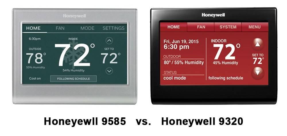 Honeywell 9580 vs  9585 vs  9320