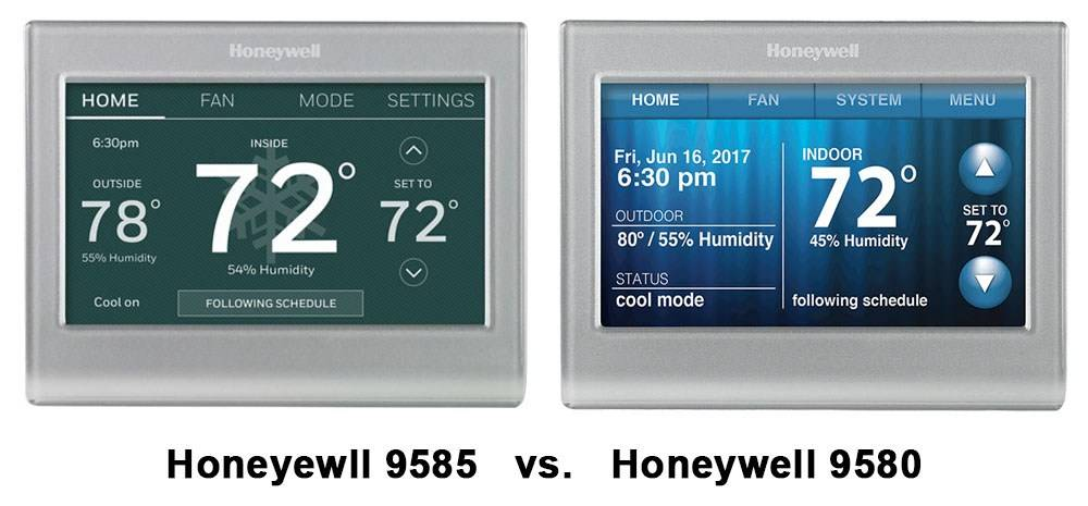 Honeyewll 9585 vs. Honeywell 9580