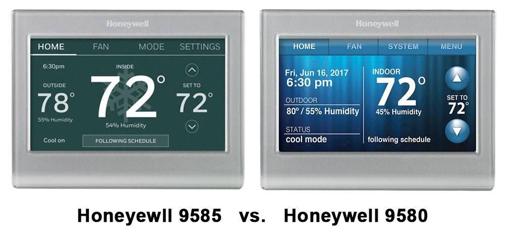 Honeyewll 9585 vs. Honeywell 9580