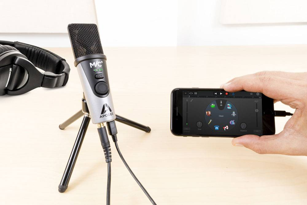 Apogee MiC Plus occasionally has issues with an echo effect when connected to a smartphone