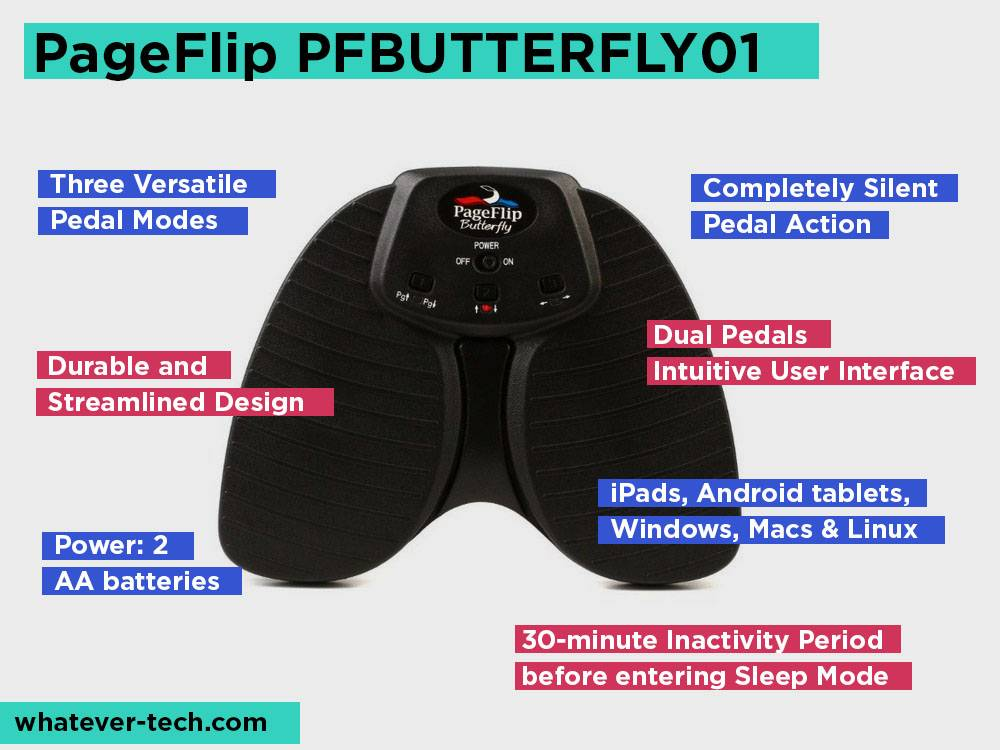 PageFlip PFBUTTERFLY01 Review, Pros and Cons.