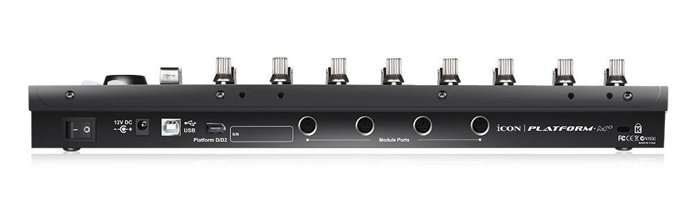 Icon Pro Audio ICOC-PLATFORMMM+ has the 4 module ports