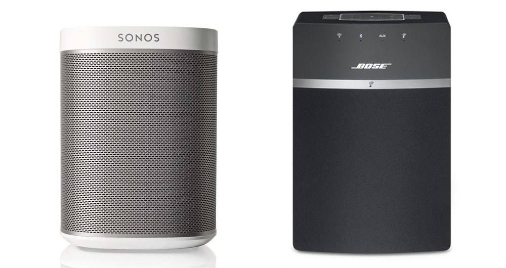 Bose SoundTouch 10 and the Sonos Play 1 speakers