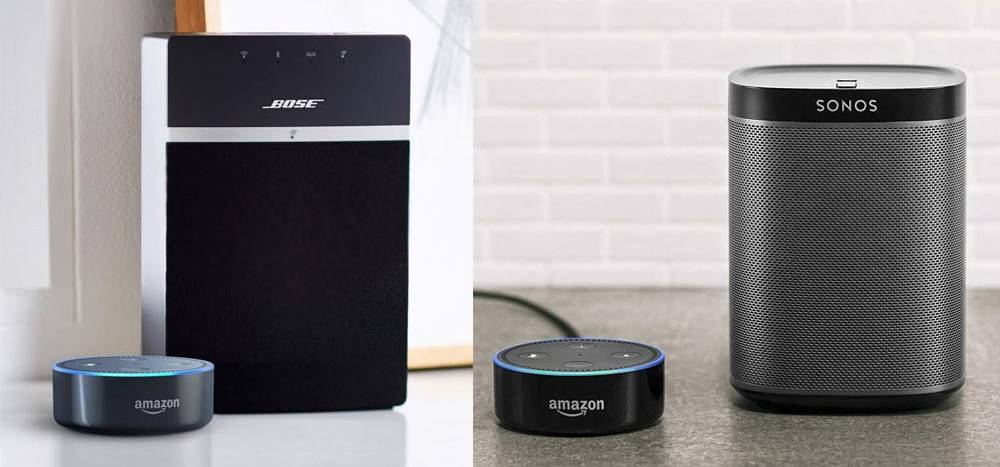 Sonos Play 1 and the SoundTouch 10 work with Alexa