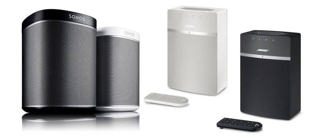 SoundTouch 10 & Sonos Play 1 come in both black and white