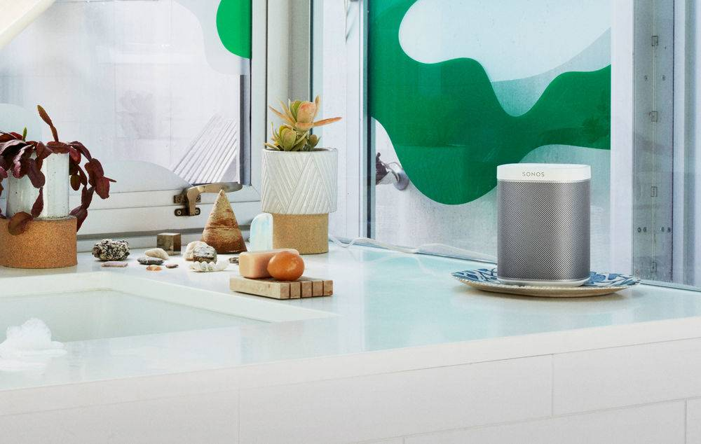 The Sonos Play 1 is designed to be humidity resistant.