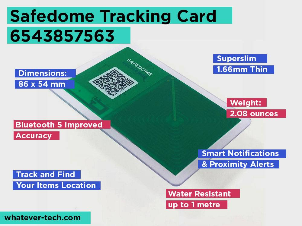 Safedome Tracking Card 6543857563 Review, Pros and Cons.