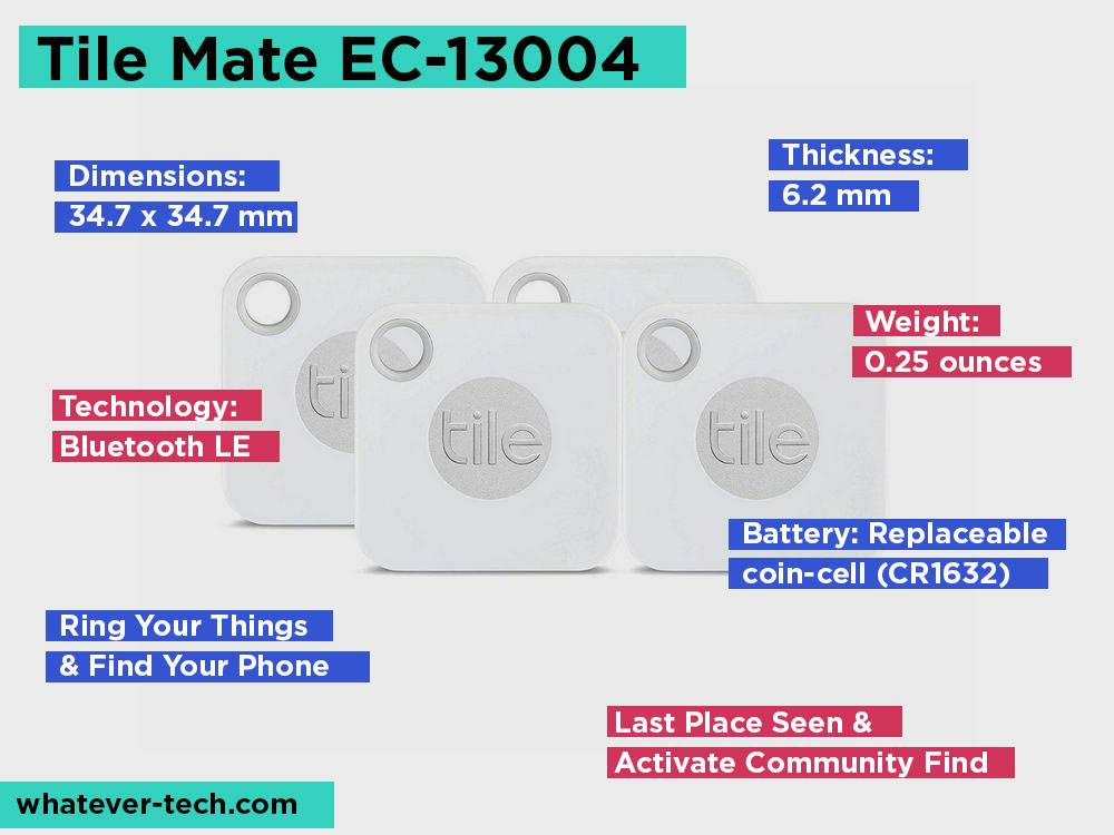 Tile MateEC-13004 Review, Pros and Cons.