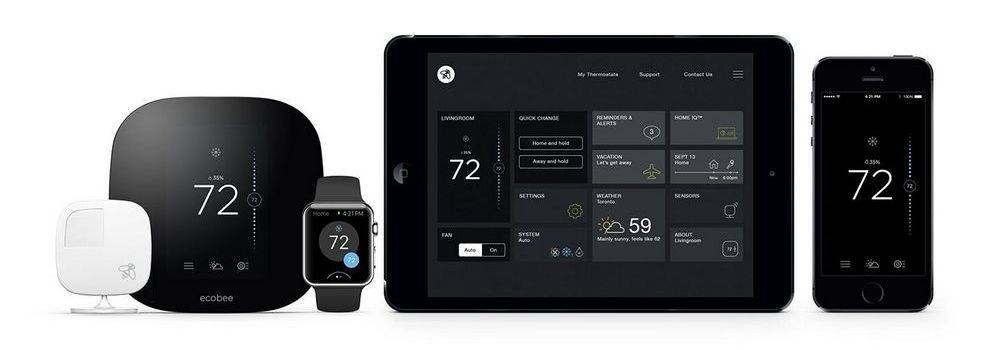 Ecobee 3 and Ecobee 4 work with iOS or Android platform