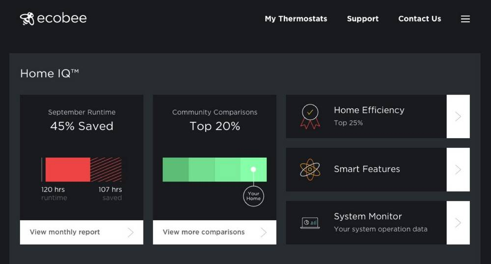 Ecobee 3 and Ecobee 4 has modern software management