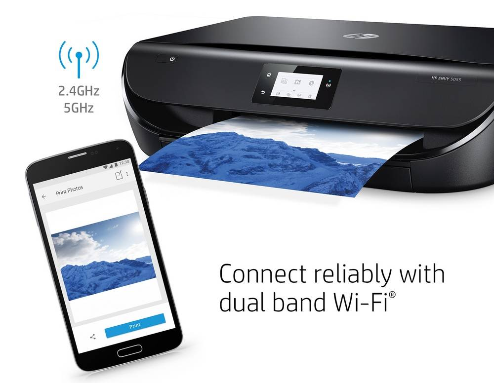 HP Envy 5055 has the dual-band Wi-Fi connection
