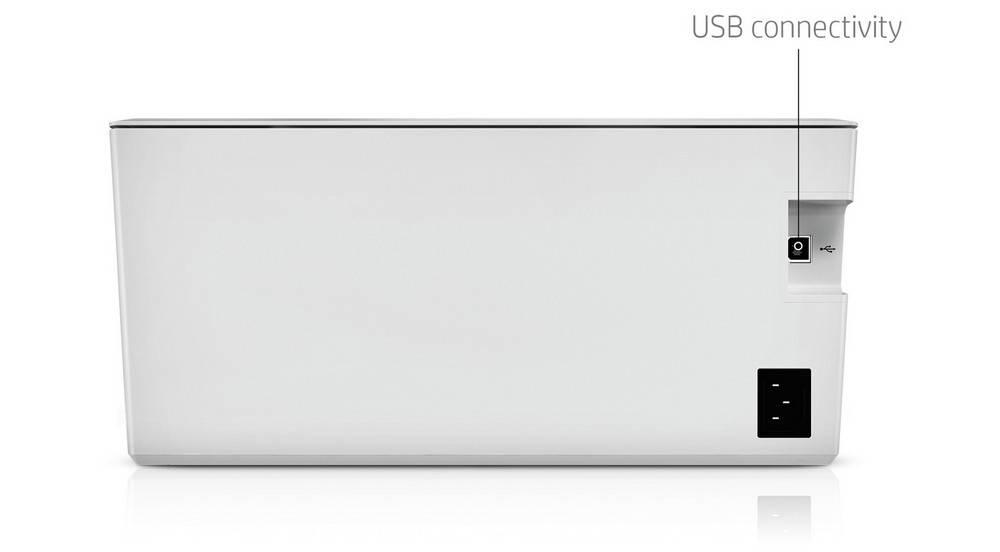 HP LaserJet Pro M15w has Hi-Speed USB 2.0 port