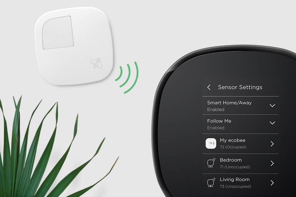 Ecobee 4 has built-in occupancy sensor