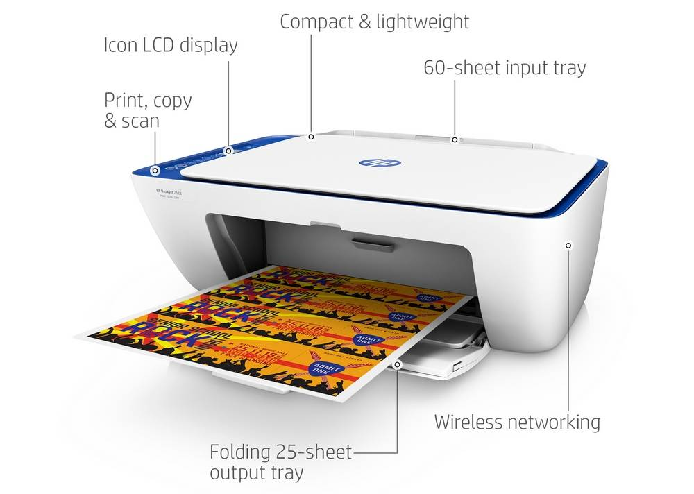 Key features of the HP DeskJet 2622