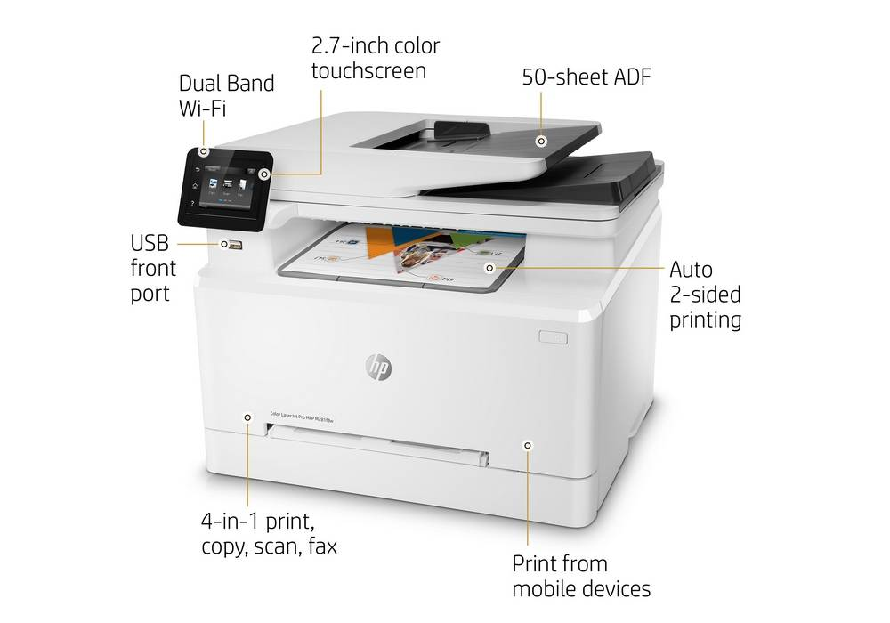 Key features of the HP LaserJet Pro M281fdw