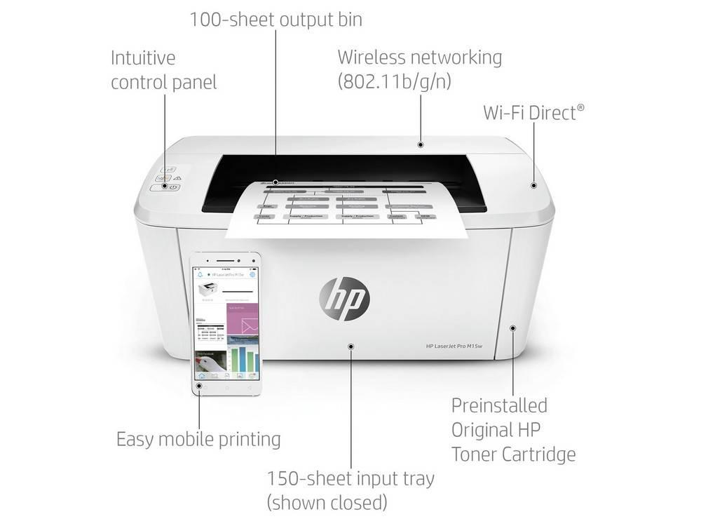 Key features of the HP LaserJet Pro M15w