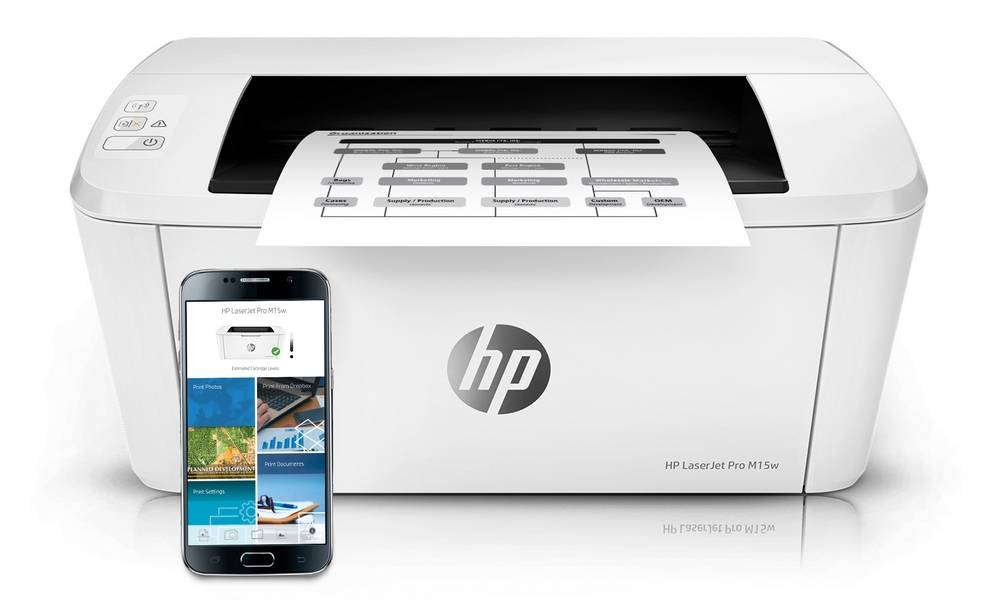 HP LaserJet Pro M15w work with iOs, HP Smart App with Android platform