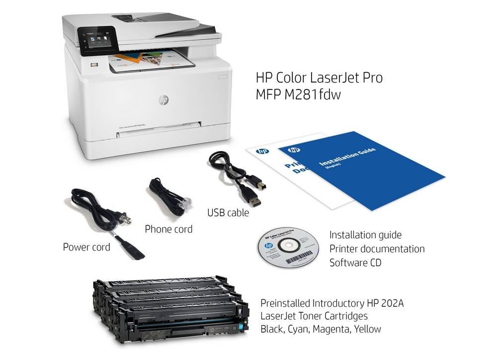 In the box HP LaserJet Pro M281fdw