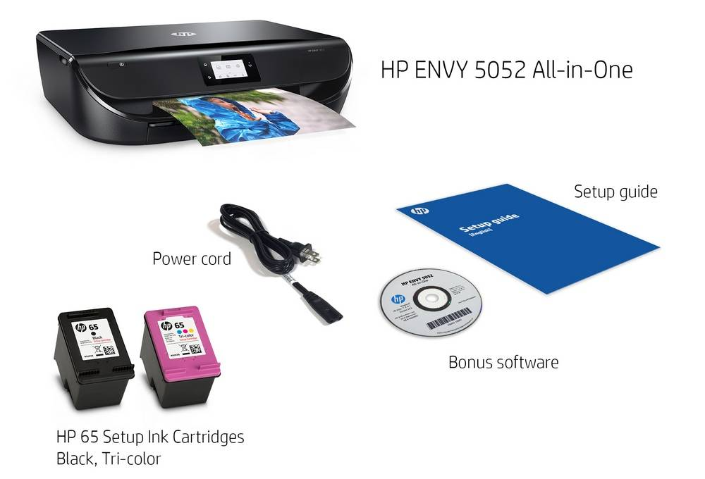 In the box HP Envy 5055