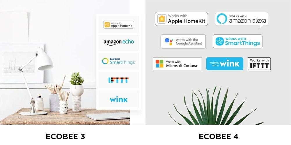 Alexa/Echo features of Ecobee 3 and Ecobee 4