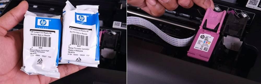 HP Envy 5055 has HP 65XL Black Original Ink and HP 65XL Tri-color Original