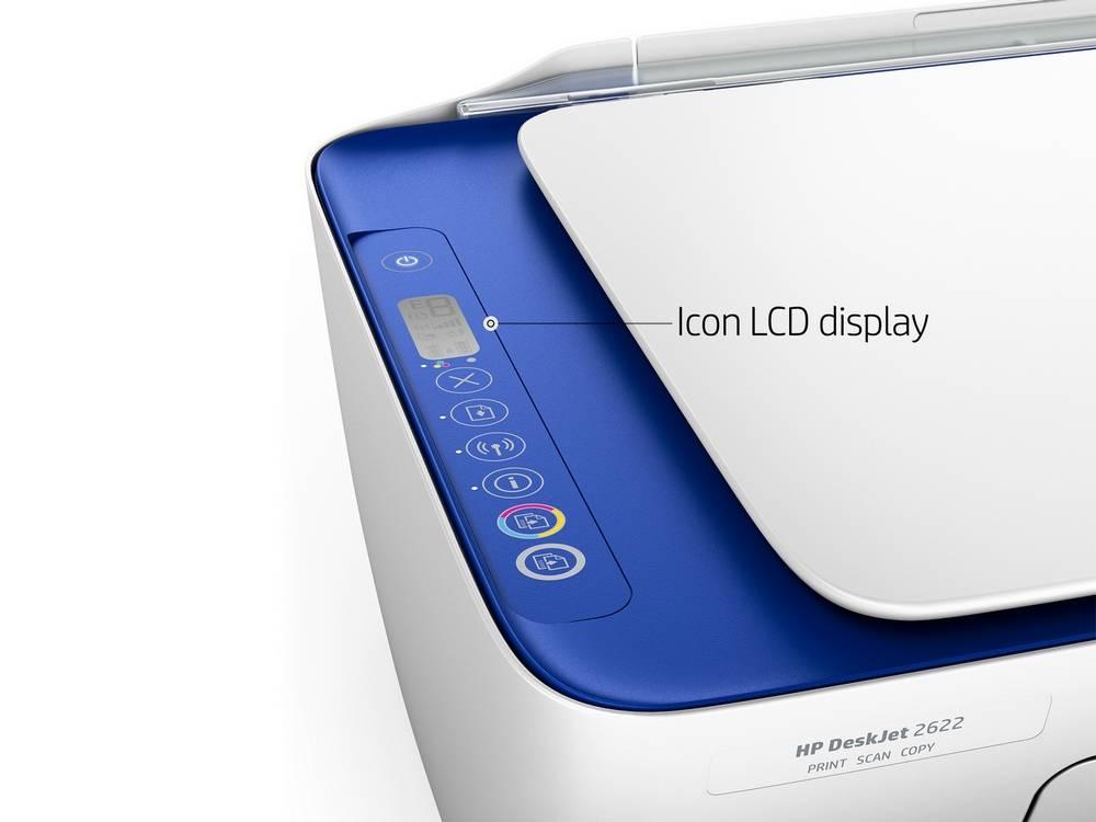HP DeskJet 2600 has Icon LCD display