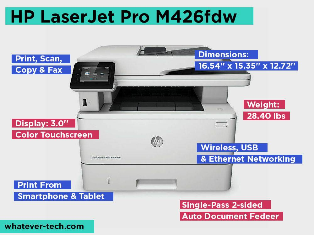 HP LaserJet Pro M426fdw Review, Pros and Cons.