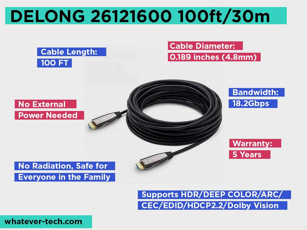 DELONG 26121600 100ft 30m Review, Pros and Cons.