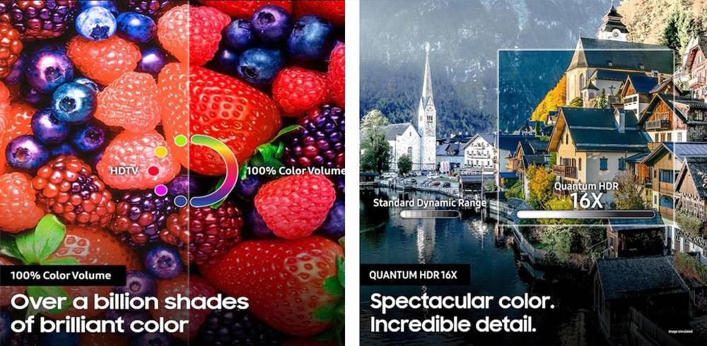 Samsung QN65Q90RAFXZA has Quantum HDR 16X & 100% Color Volume
