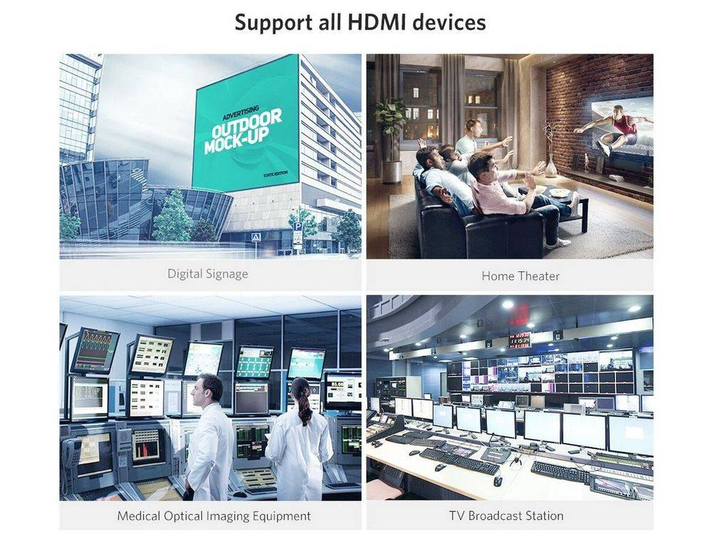 UGREEN 50717 33FT sapports all HDMI devices
