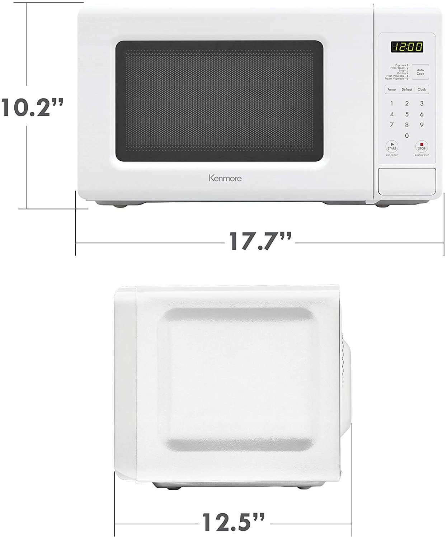 Best 700 watt Microwave - size